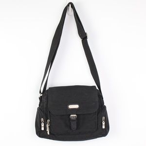 Baggallini black crossbody travel organizer bag